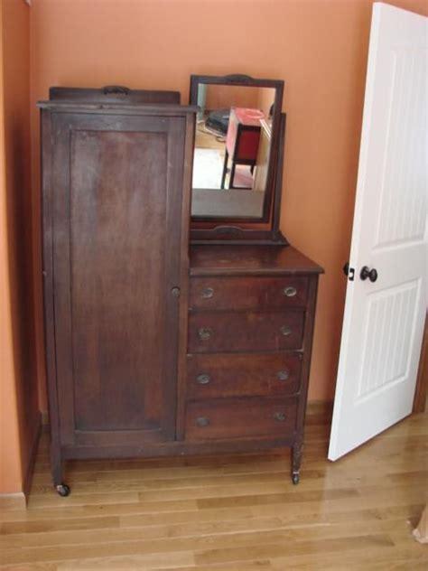 Dresser Wardrobe Furniture by Details About Antique Chifferobe Wardrobe Dresser With