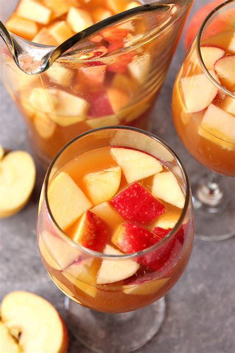 caramel apple sangria recipe crunchy creamy sweet