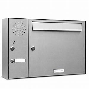 Briefkasten Mit Klingel Aufputz : 1er premium edelstahl briefkasten anlage mit klingel 1 fach postkasten wand ebay ~ Yasmunasinghe.com Haus und Dekorationen
