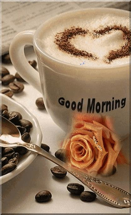 And spreading positive vibes every morning with inspirational morning messages and wishes always get a smile on your face. Coffee Gif~☕️🧡 in 2020 (With images)