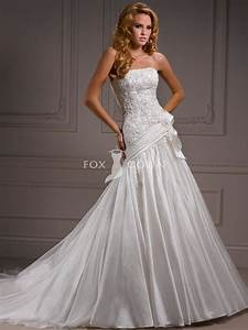elegant and lovely organza dropped waist wedding dresses With lace drop waist wedding dress