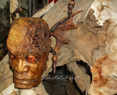 wood art tas kayu isi kepala art wood art sculpture