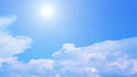 sky clouds formation blue sky stock footage video