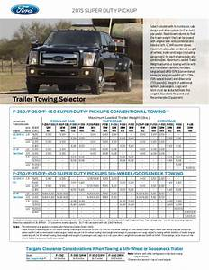 Ford Engine Weight Chart 2015 Ford Super Duty Truck Towing Capacity Information