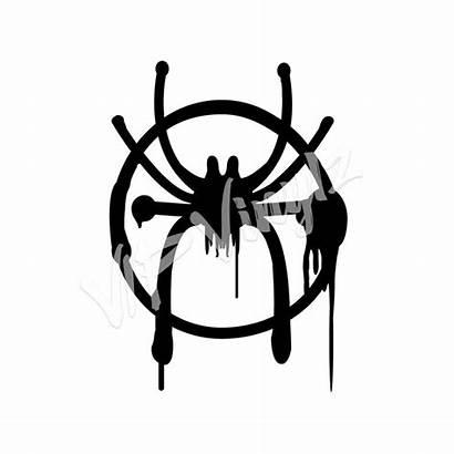 Morales Spider Miles Symbol Into Spiderman Drawing