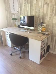 Ikea Schreibtisch Mit Regal : schreibtisch mit einem regal und einem schreibtischunterschrank von ikea die platte ist aus dem ~ A.2002-acura-tl-radio.info Haus und Dekorationen