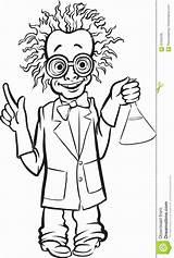Scientist Mad Cartoon Drawing Scienziato Disegno Coloring Standing Whiteboard Colorare Pazzo Fumetto Lavagna Sta Che Line Bambini Immagini Disegni sketch template