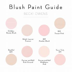 Blush Pink Paint Guide - Becki Owens