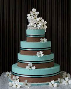 Tiffany Blue Wedding Cakes | tiffany blue, gold, ivory ...