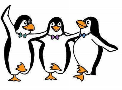 Penguins Dancing Words Splendid Extraordinary Cartoon Marvelous