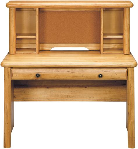 Pine Desk Hutch D167 8598312 By Regency Furniture Knotty Pine Finish