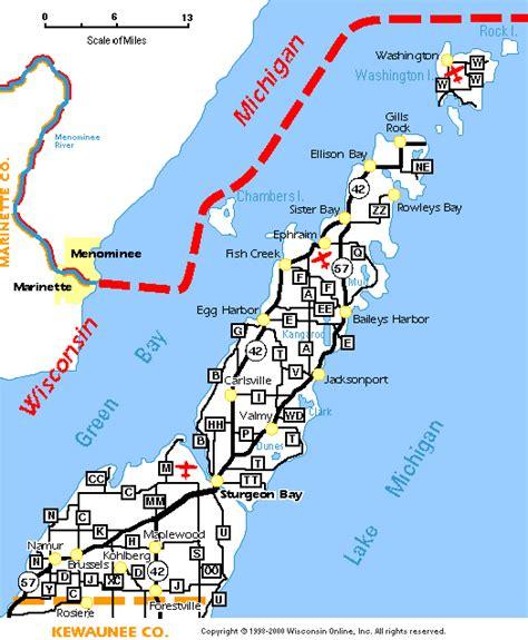 map of door county wi door county wisconsin door county dining