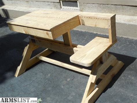 armslist  sale heavy duty wooden shooting bench