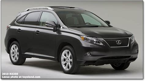 Lexus Rx330, 2010 Rx350, And Rx450h