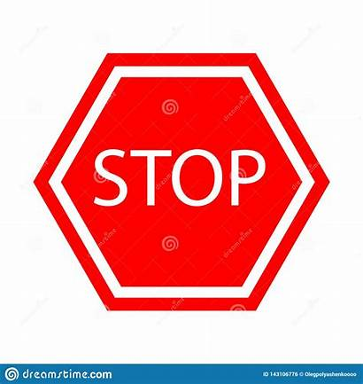 Stop Sign Icon Vector Warning Rule