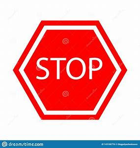 Vector, Stop, Sign, Icon, Stock, Vector, Illustration, Of, Rule
