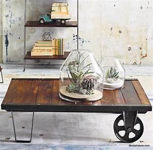 Roue Industrielle Pour Table Basse : table basse palette top 69 des id es les plus originales en 2017 ~ Nature-et-papiers.com Idées de Décoration