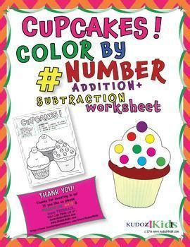 cupcake color  number  addition  subtraction