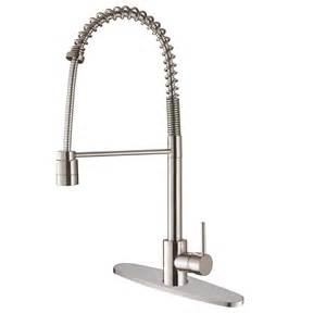 commercial style kitchen faucet ruvati rvf1210b1st commercial style pullout spray kitchen faucet with deck plate stainless