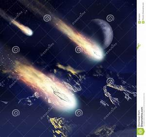 Invasion Coming From The Stars Stock Illustration - Image ...