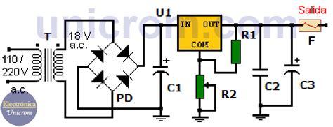 fuente de voltaje variable con lm317t circuito impreso electr 243 nica unicrom