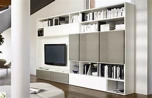 Parete libreria soggiorno in legno Giaco Arredo Design Online