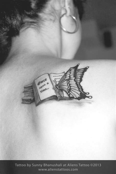 Butterfly reading Book Tattoo, Inked by Sunny at Aliens Tattoo, Mumbai | Book tattoo, Bookish