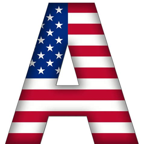 Letter Usa by Usa Flag Alphabet Clipart Uppercase And Lowcase American