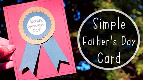 simple fathers day card tutorial youtube