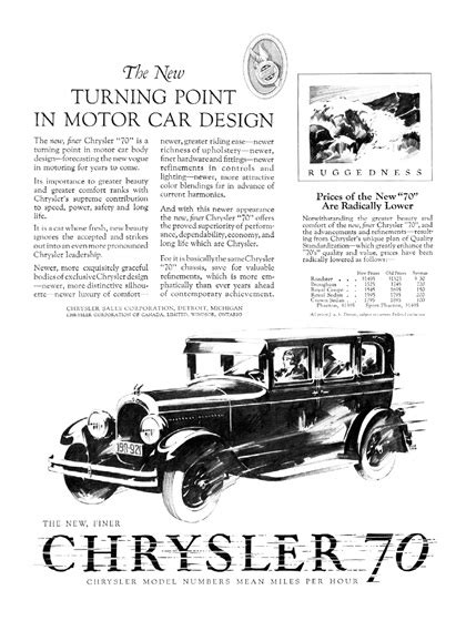 Chrysler Advertising by Chrysler Advertising By Fred Cole 1926 1930