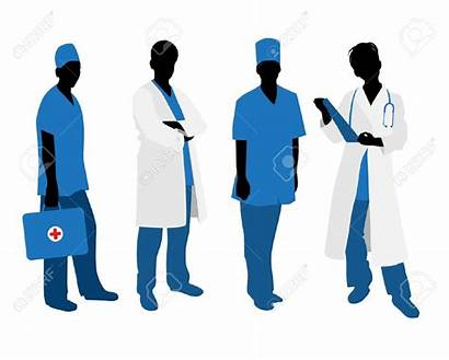 Clipart Silhouettes Doctors Health Professionals Healthcare Vector
