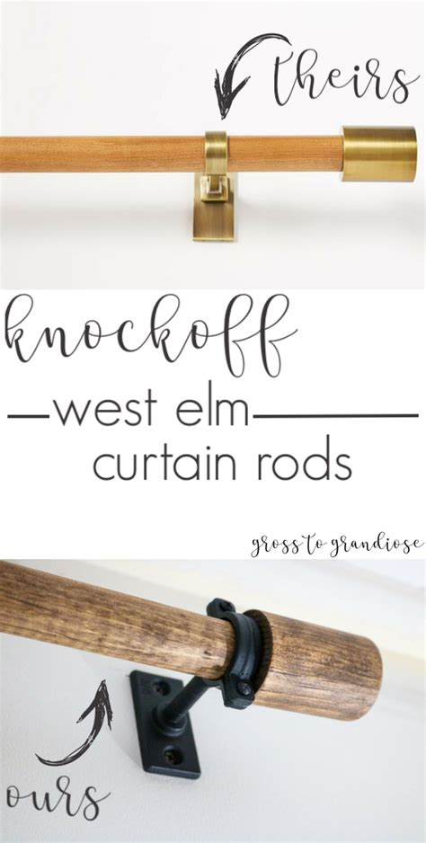 West Elm Drapery Hardware by Knockoff West Elm Curtain Rods Curtain Rods Dyi West
