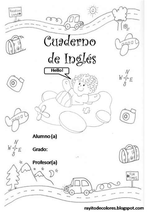 portadas libretas creativas colorear cuadernos preescolar escuela colegio primaria espanol