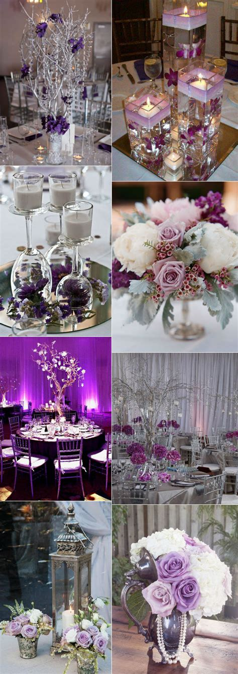 purple silver and white wedding decorations stunning wedding color ideas in shades of purple and silver