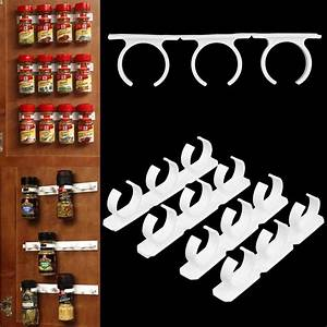 4pcs spice clips gripper jar rack storage holder kitchen for Kitchen colors with white cabinets with clip on candle holders
