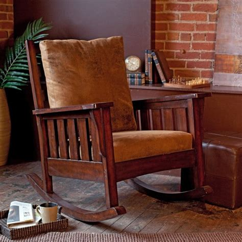 remington mission rocking chair modern rocking chairs