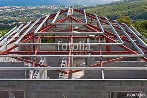 Prix Charpente Métallique Maison : charpente m tallique toiture maison photo libre de ~ Premium-room.com Idées de Décoration