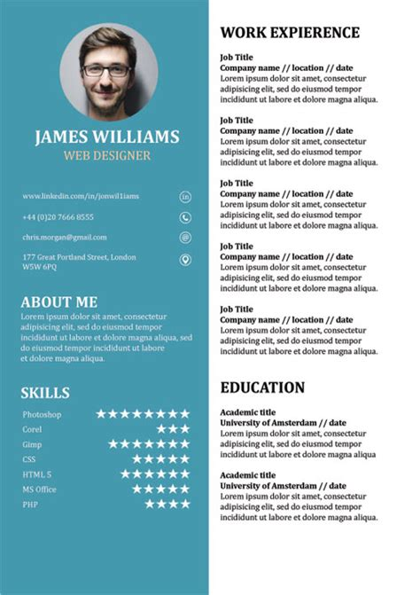 resume template creative cv  word