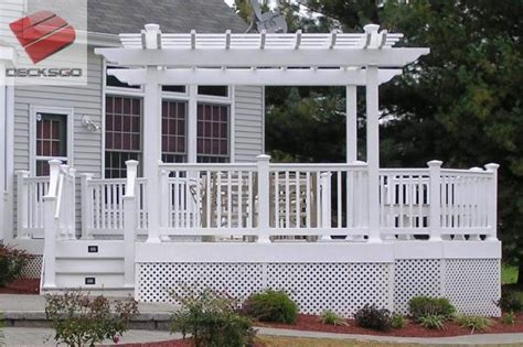 colonial deck pergola structure photo