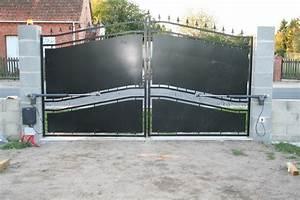 Fixation Portail Battant : installation portail electrique portail alu coulissant 4m ~ Premium-room.com Idées de Décoration
