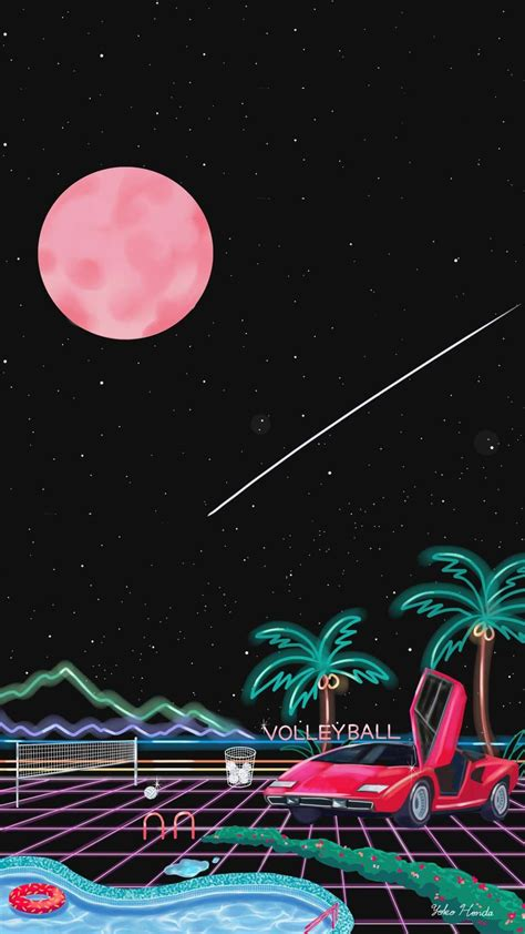 Aesthetic Neon Iphone Wallpaper by By Yoko Honda Electric Objects