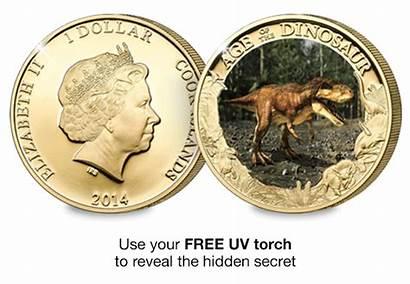 Coin Rex Tyrannosaurus Gold Plated Dinosaur Carat