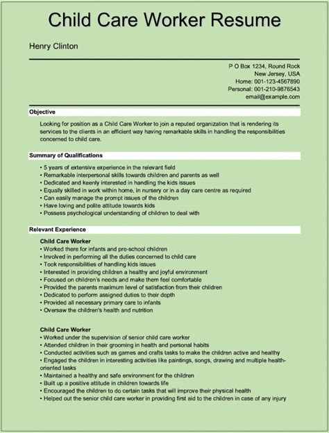 child care assistant resume sle website resume cover