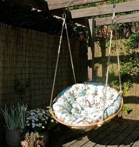 swinging papasan chair repurpose