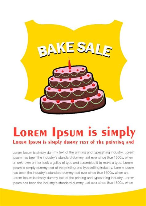 bake sale template engaging free bake sale flyer templates for fundraising events demplates