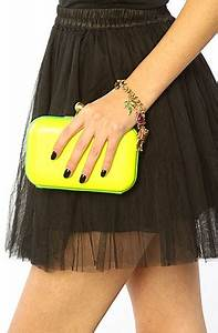 Accessories Boutique Clutch Neon in Yellow Karmaloop