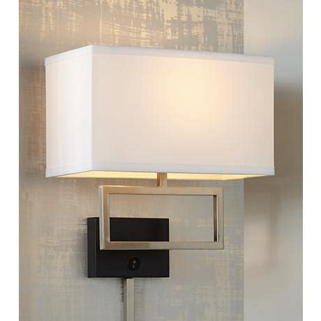 possini brushed steel rectangle in wall light