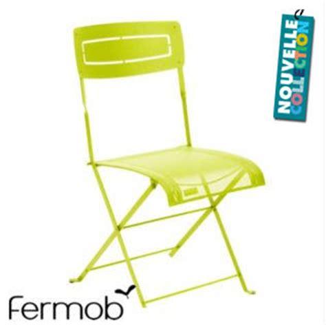 chaise de jardin pliante pas cher chaise de jardin pliante vert anis fermob vert anis slim