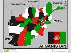 Afghanistan Political Map stock illustration Illustration