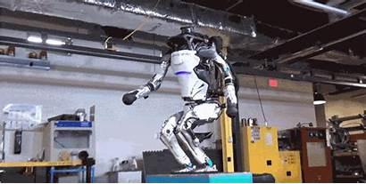 Robot Boston Atlas Dynamics Backflip Moving Robotics
